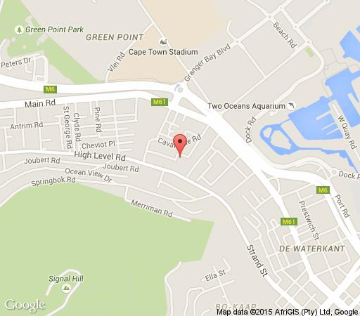 Map Portswood Mews in Green Point  Atlantic Seaboard  Cape Town  Western Cape  South Africa