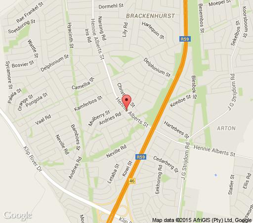 Map Dimension Guest House in Brackenhurst  Alberton  Ekurhuleni (East Rand)  Gauteng  South Africa