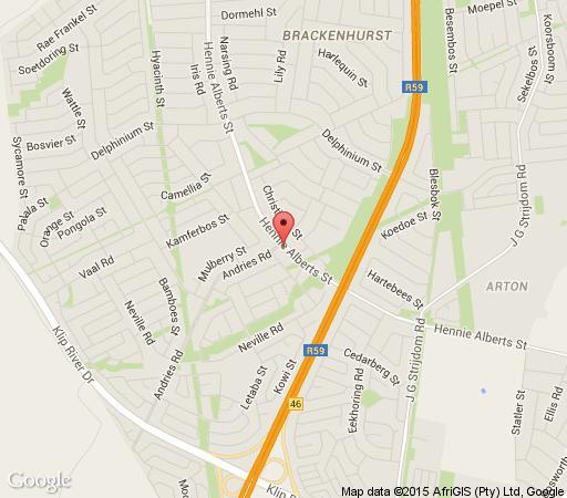 Map Dimension Guest House in Brackenhurst  Alberton  Ekurhuleni (East Rand)  Gauteng  South Africa