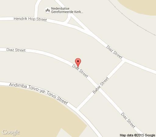 Map Van Zyl\'s Accommodation in Windhoek  Khomas  Namibia