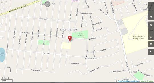 Map Mount Grace in Mount Pleasant  Port Elizabeth  Cacadu (Sarah Baartman)  Eastern Cape  South Africa