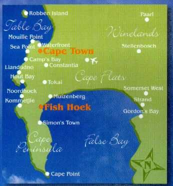 Map Bay Cottage in Fish Hoek  False Bay  Cape Town  Western Cape  South Africa