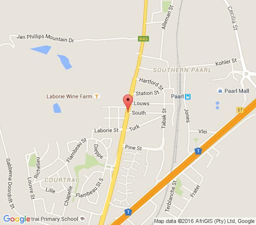 Map Boschenmeer Grande Lodge in Paarl  Cape Winelands  Western Cape  South Africa