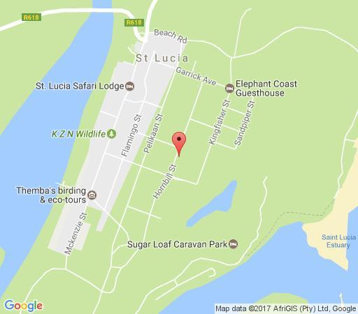 Map Lodge Afriquè in St Lucia  Zululand  KwaZulu Natal  South Africa
