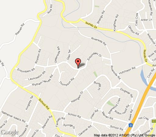 Map Falcon Crest in Amanzimtoti  South Coast (KZN)  KwaZulu Natal  South Africa