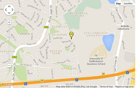 Map Ambience Garden Apartment  in Bellville  Northern Suburbs (CPT)  Cape Town  Western Cape  South Africa