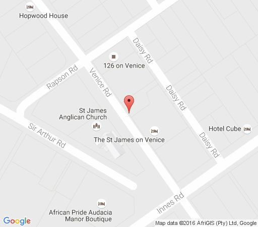 Map St James on Venice in Morningside (DBN)  Durban  Durban and Surrounds  KwaZulu Natal  South Africa