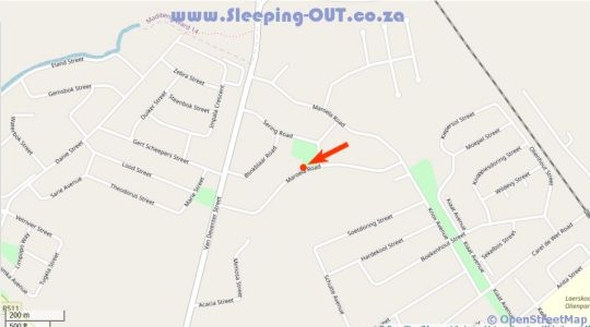 Map Maroela Guesthouse Brits in Brits  Bojanala  North West  South Africa