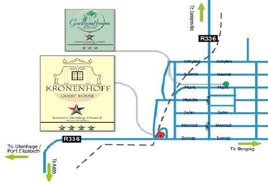 Map Kronenhoff in Kirkwood  Cacadu (Sarah Baartman)  Eastern Cape  South Africa