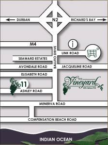 Map The Vineyard on Ballito in Ballito  North Coast (KZN)  KwaZulu Natal  South Africa