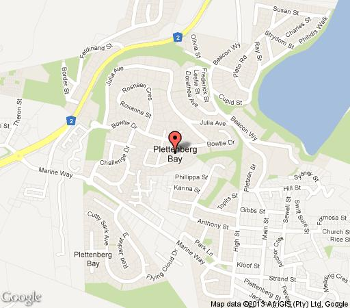 Map The  Apartment At Plett in Plettenberg Bay  Garden Route  Western Cape  South Africa