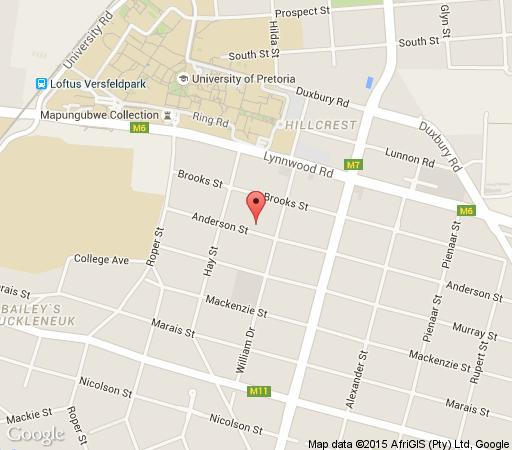 Map Osborne House in Brooklyn (PTA)  Pretoria Central  Pretoria / Tshwane  Gauteng  South Africa