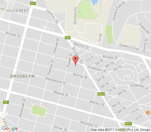 Map Brooklyn Manor in Brooklyn (PTA)  Pretoria Central  Pretoria / Tshwane  Gauteng  South Africa