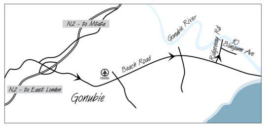 Map Grande Vista in Gonubie  East London  Amatole  Eastern Cape  South Africa