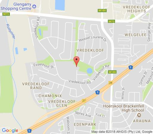 Map Vredekloof Accommodation in Brackenfell  Northern Suburbs (CPT)  Cape Town  Western Cape  South Africa