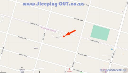 Map Newton Sands Guesthouse  in Newton Park  Port Elizabeth  Cacadu (Sarah Baartman)  Eastern Cape  South Africa