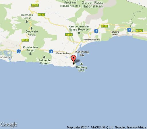 Map Beyond The Blue in Plettenberg Bay  Garden Route  Western Cape  South Africa
