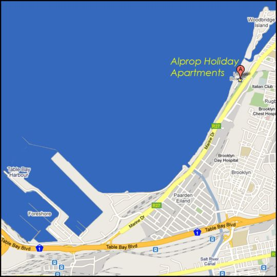 Map Alprop Leisure Bay Apartments in Milnerton  Blaauwberg  Cape Town  Western Cape  South Africa