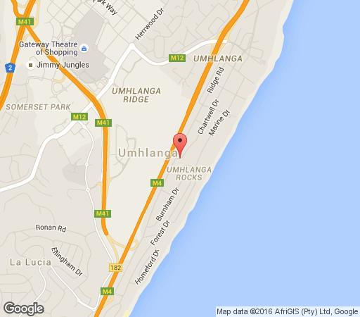 Map Chartwell Guest House in Umhlanga Rocks  Umhlanga  Northern Suburbs (DBN)  Durban and Surrounds  KwaZulu Natal  South Africa