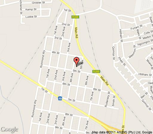 Map Emthanjeni Lodge in De Aar  Upper Karoo  Northern Cape  South Africa
