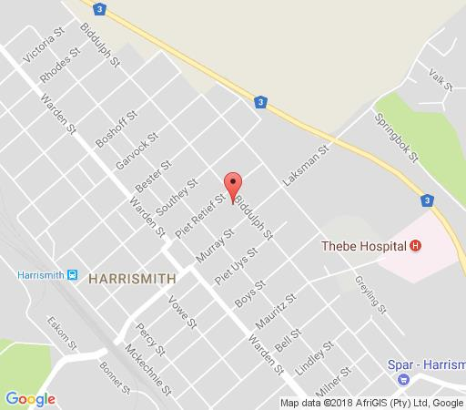 Map Platberg Harrismith Backpackers in Harrismith  Thabo Mofutsanyana  Free State  South Africa