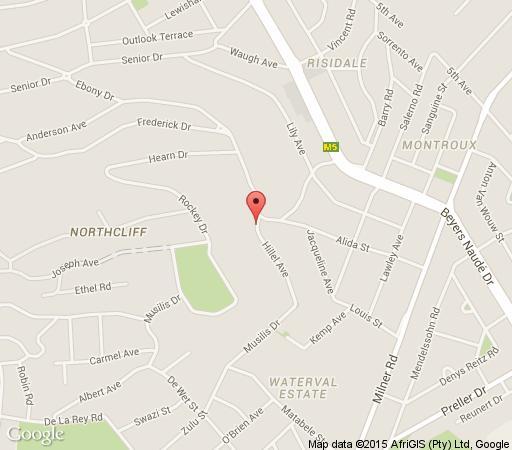 Map Orangerie in Northcliff  Northcliff/Rosebank  Johannesburg  Gauteng  South Africa
