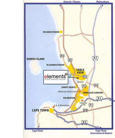 Map Elements in Table View  Blaauwberg  Cape Town  Western Cape  South Africa