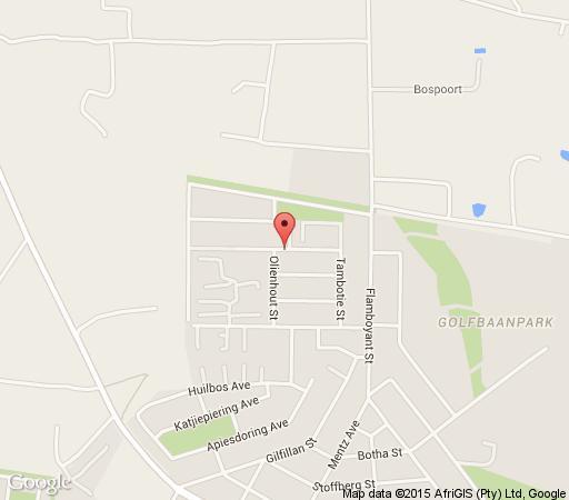 Map Waterberg Guest House in Bela Bela  Bushveld  Limpopo  South Africa