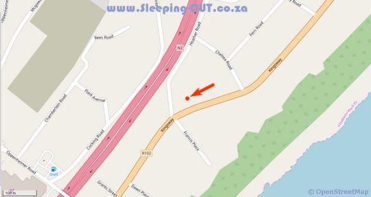 Map African Sands B&B in Amanzimtoti  South Coast (KZN)  KwaZulu Natal  Suid-Afrika