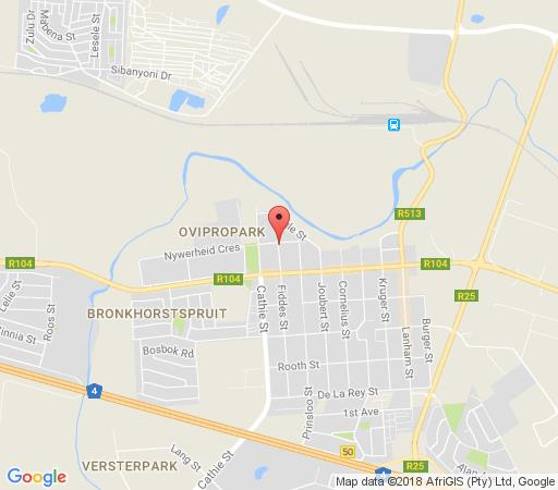 Map Lil\'s Place Guest House in Bronkhorstspruit  Pretoria East  Pretoria / Tshwane  Gauteng  South Africa