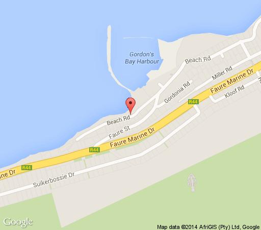 Map Beach House in Gordon's Bay  Helderberg  Western Cape  South Africa