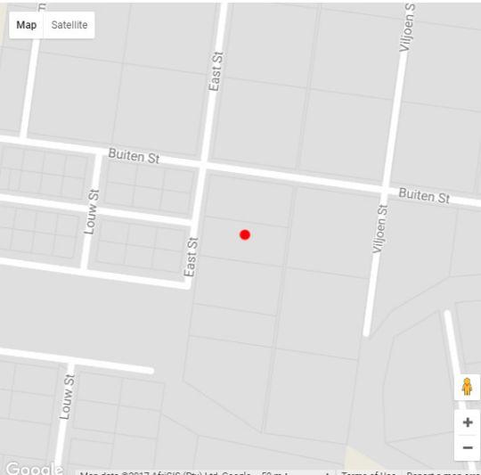 Map Karoo Pandok in Bethulie  Xhariep (Southern Free State)  Free State  South Africa