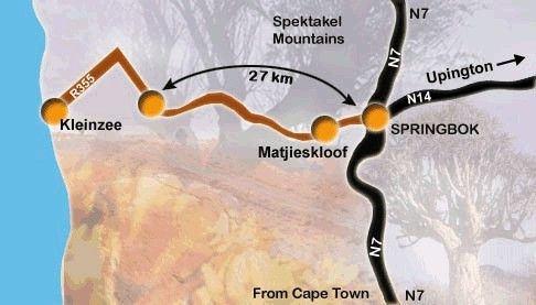 Map Naries Namakwa Retreat  in Springbok  Namakwaland  Northern Cape  South Africa