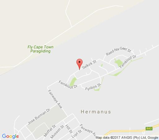 Map Selkirk House in Hermanus  Overberg  Western Cape  South Africa
