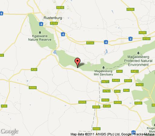 Map AmHang in Magaliesburg  West Rand  Gauteng  South Africa