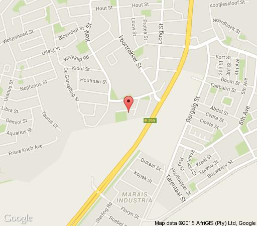 Map Southern Anchorage Guest House in Vredenburg  West Coast (WC)  Western Cape  South Africa