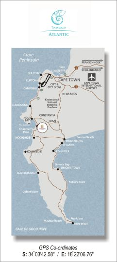 Map Tintswalo Atlantic in Hout Bay  Atlantic Seaboard  Cape Town  Western Cape  South Africa