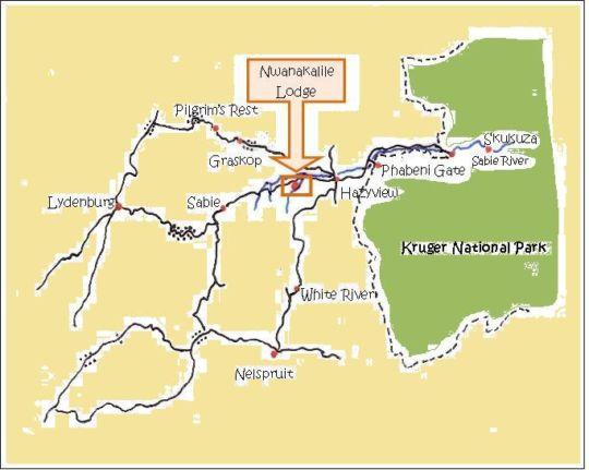 Map Bush Baby Glen in Hazyview  The Panorama  Mpumalanga  South Africa
