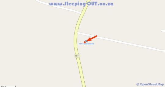 Map Tom\'s Backpackers in Hennops River  Centurion  Pretoria / Tshwane  Gauteng  South Africa
