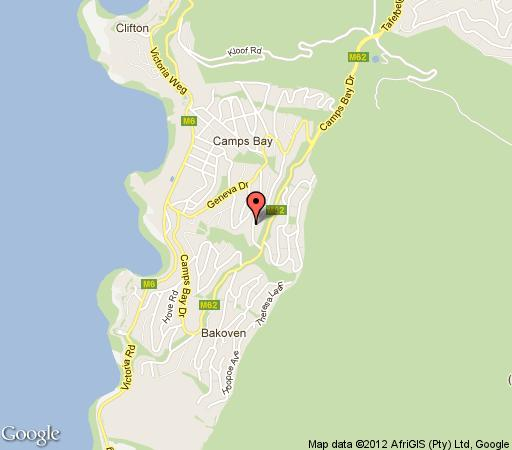 Map The Crystal in Camps Bay  Atlantic Seaboard  Cape Town  Western Cape  South Africa