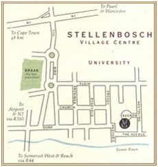 Map Villa Grande in Stellenbosch  Cape Winelands  Western Cape  South Africa