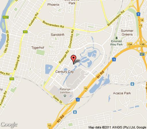 Map 609 Century City in Century City  Blaauwberg  Cape Town  Western Cape  South Africa