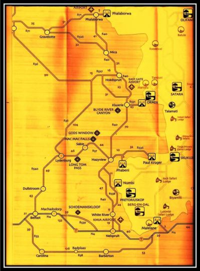 Map Warthog Rest Private Lodge in Hoedspruit  Valley of the Olifants  Limpopo  South Africa