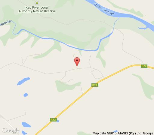 Map Laquila Lodge in Kap River  Cacadu (Sarah Baartman)  Eastern Cape  Suid-Afrika