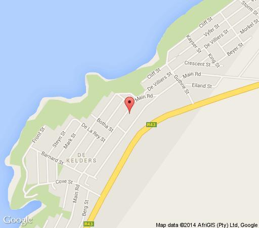 Map Haus Giotto in De Kelders  Overberg  Western Cape  South Africa