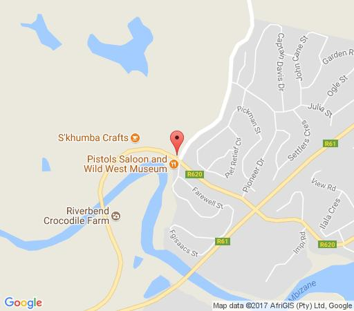 Map Bellevue Guest Lodge in Ramsgate  South Coast (KZN)  KwaZulu Natal  South Africa