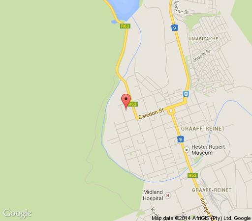 Map A Mountain View Guesthouse in Graaff-Reinet  Cacadu (Sarah Baartman)  Eastern Cape  South Africa