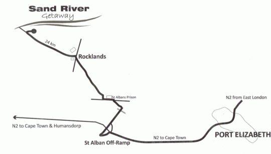 Map Sand River Getaway in Elands River Valley  Cacadu (Sarah Baartman)  Eastern Cape  South Africa