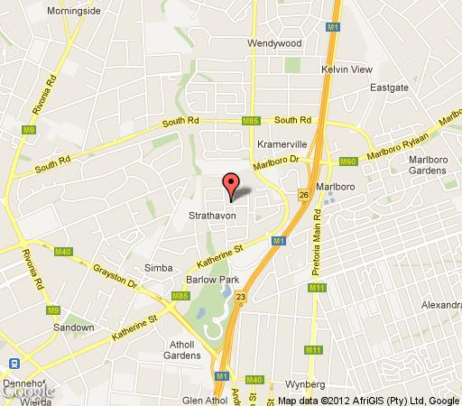 Map 3 Melrose Road in Sandown  Sandton  Johannesburg  Gauteng  South Africa