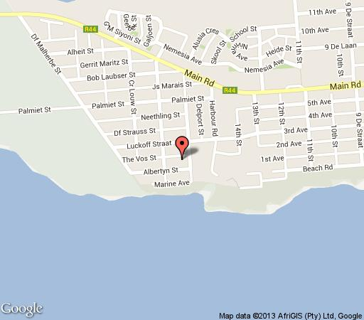 Map The Wild Fig in Kleinmond  Overberg  Western Cape  South Africa